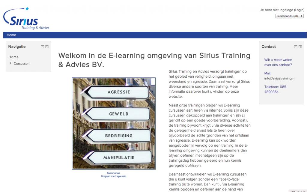 Sirius Training en Advies kiest voor professionele Moodle partij