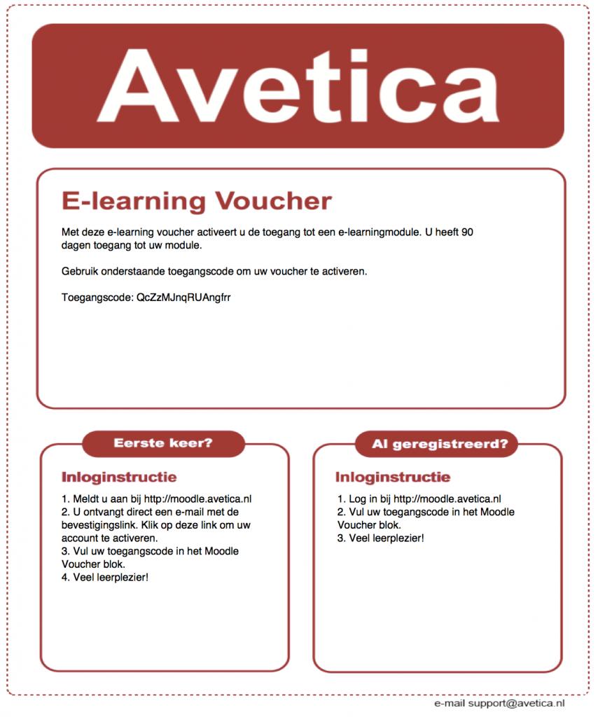 Avetica ontwikkelt Moodle Voucher