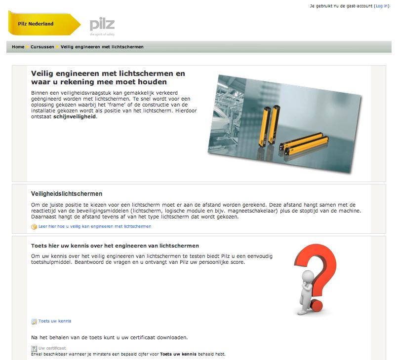 Pilz start met Educommerce met behulp van Moodle